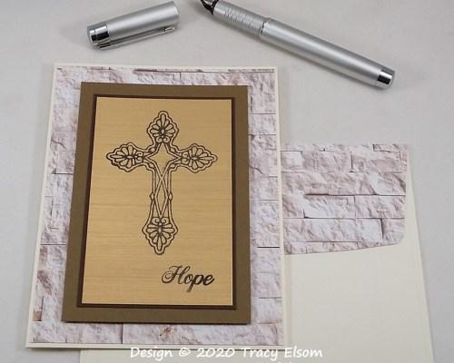 2068 Hope And Crucifix Card