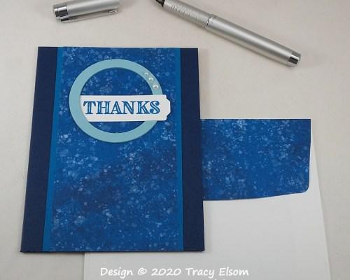 2091 Blue Thanks Card