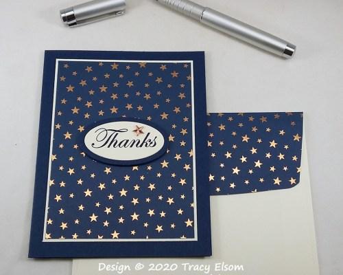 2096 Star Thanks Card