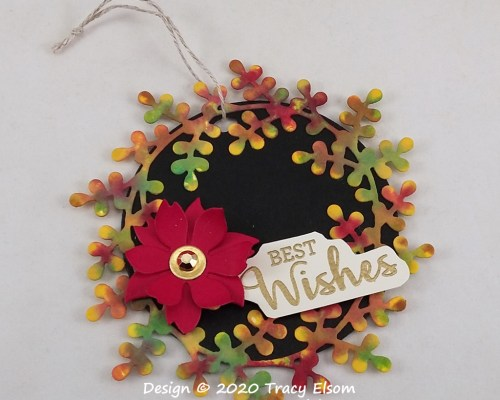 Best Wishes Autumn Wreath Gift Tag