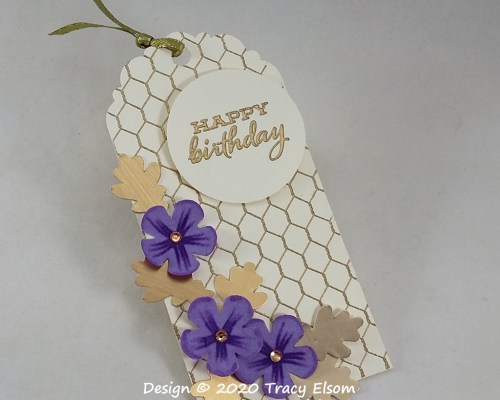 All Wired Up Birthday Gift Tag