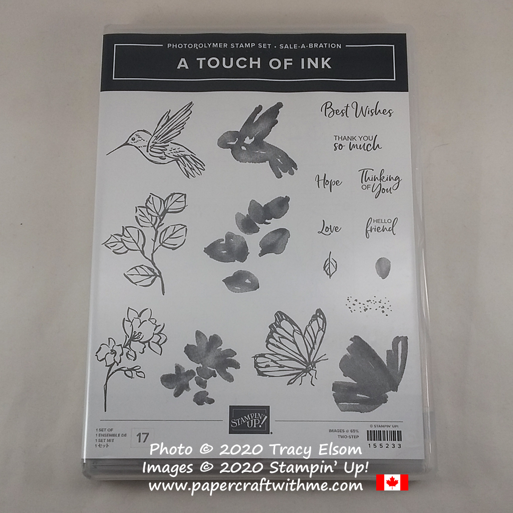 A Touch Of Ink Stamp Set available for FREE with a qualifying purchase (Jan 5 to Feb 28, 2021). #papercraftwithme