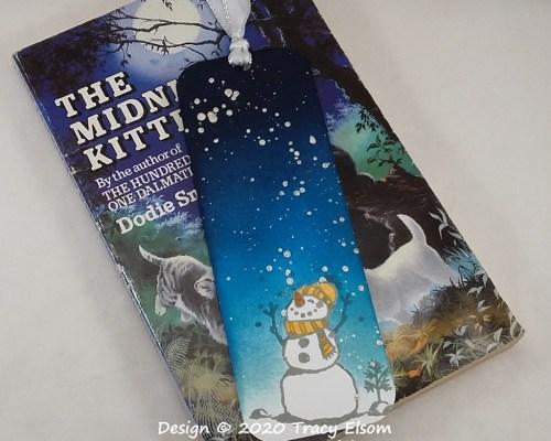 BM323 Snowy Night, Happy Snowman Bookmark