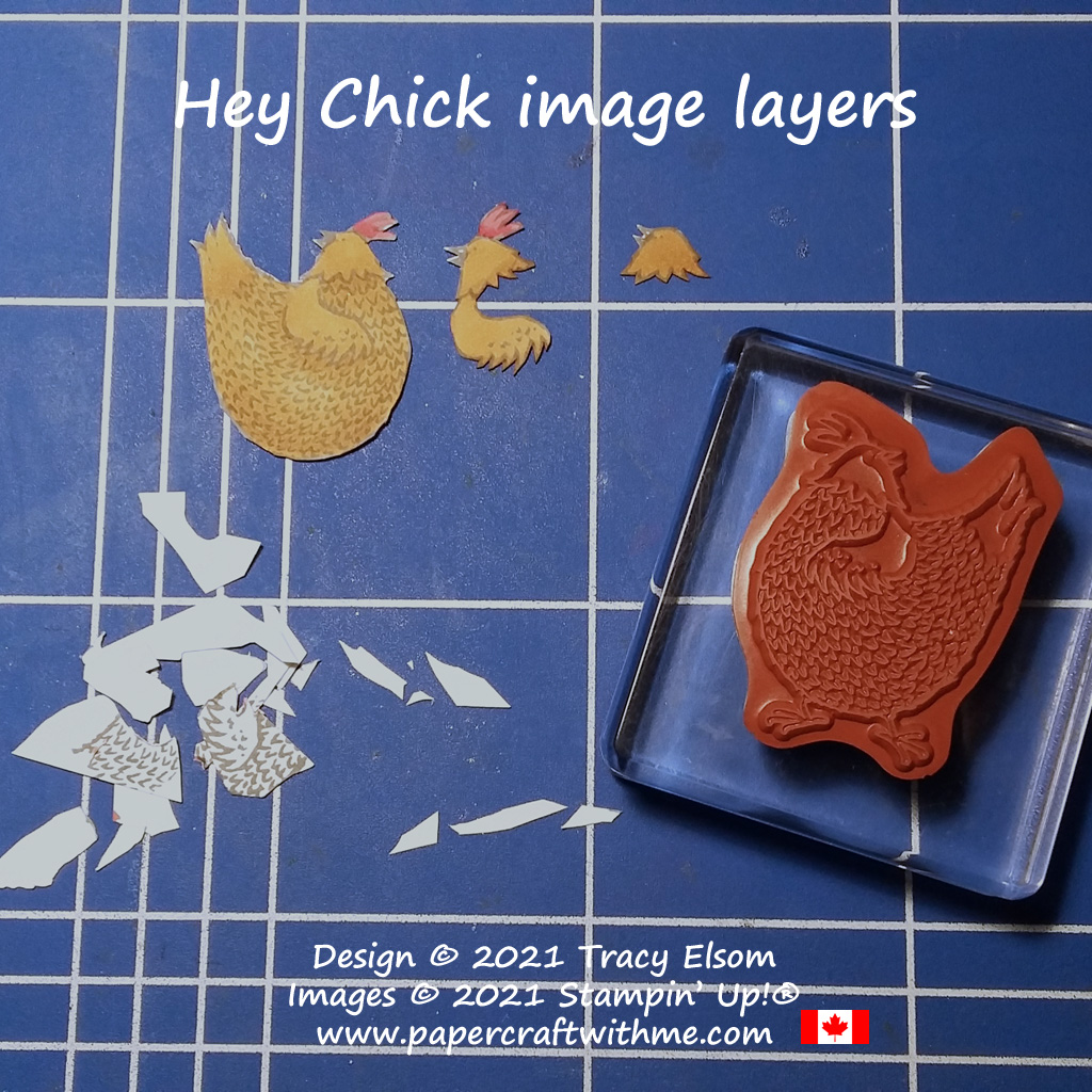 Adding dimension to a chicken themed card with fussy cut layers created using the re-released Hey Chick Stamp Set from Stampin' Up! #papercraftwithme