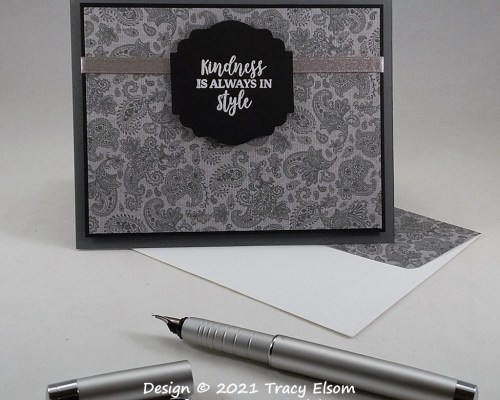 2122 Paisley Style Kindness Card