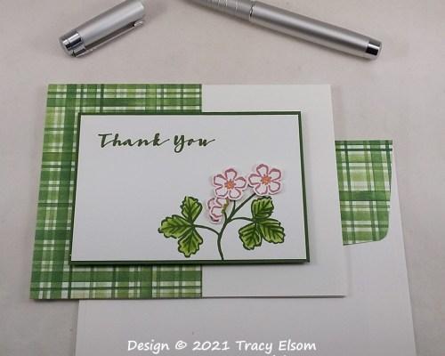 2125 Strawberry Blossom Thank You Card