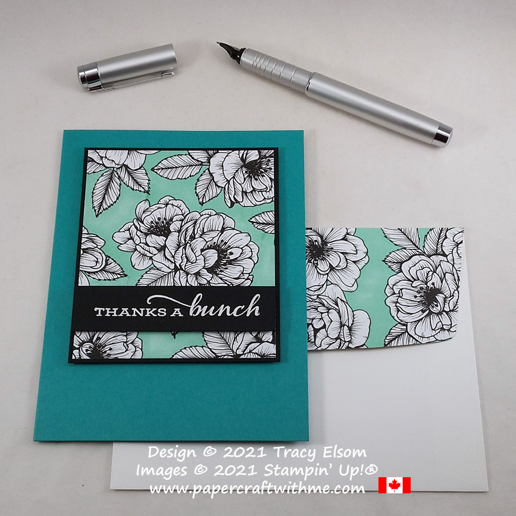 """""""Thanks a bunch"""" card created using the Celebrate Sunflowers Stamp Set and True Love paper coloured using a Stampin' Blends alcohol marker, all from Stampin' Up! #papercraftwithme"""