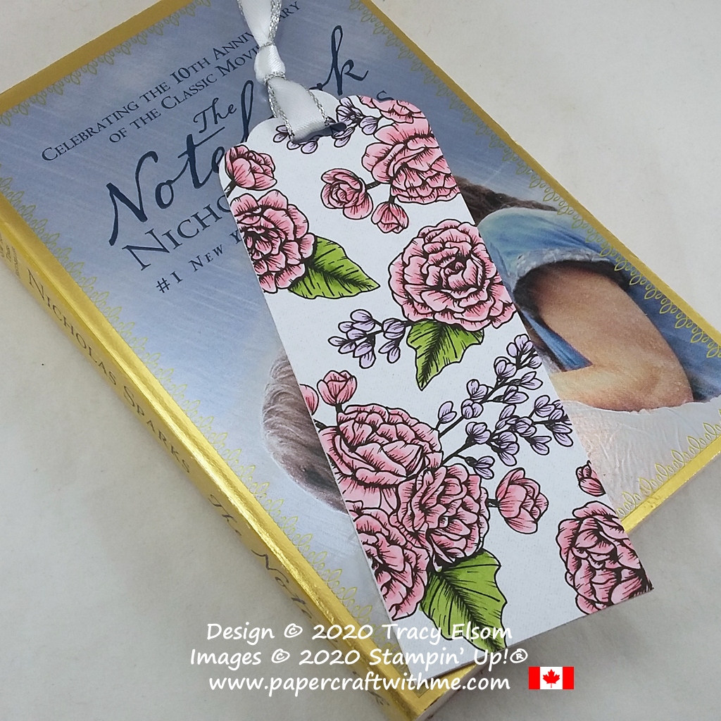 Simple bookmark created using the True Love paper and coloured with Stampin' Blends alcohol markers, all from Stampin' Up! #papercraftwithme