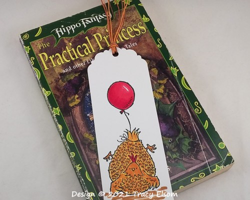 BM329 Balloon Assisted Chicken Bookmark
