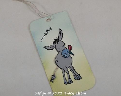 Donkey Birthday Gift Tag