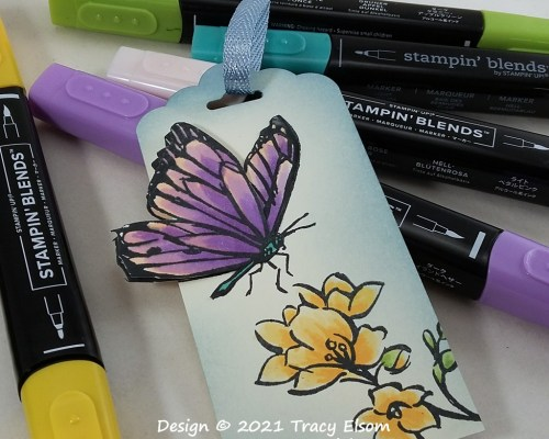Touch Of A Butterfly Gift Tag