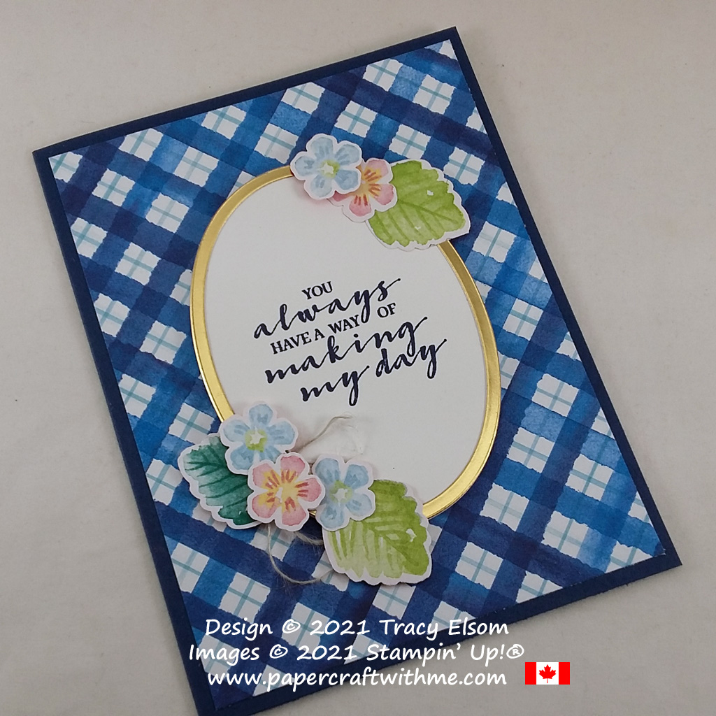 """""""You always have a way of making my day"""" card created using the free Berry Blessings Stamp Set and Berry Delightful paper from Stampin' Up! #papercraftwithme"""
