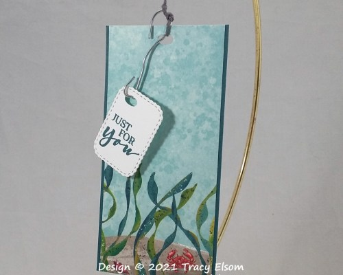 """Fishing Hook """" Just for you"""" Gift Tag"""