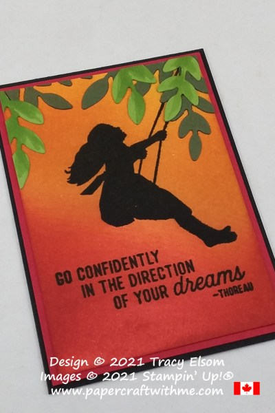 """Go confidently in the direction of your dreams"" fridge magnet created using the Silhouette Scenes Stamp Set and Forever Flourishing Dies from Stampin' Up! #papercraftwithme"