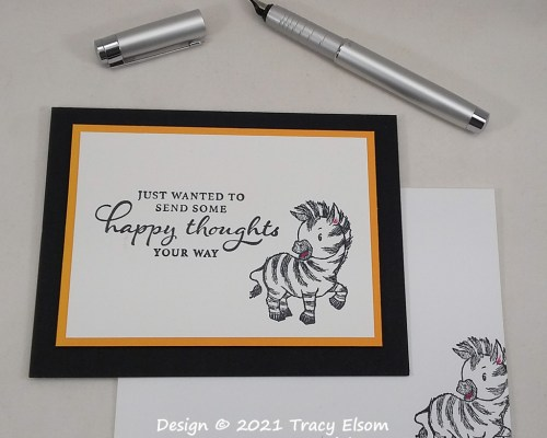 2175 Zebra Happy Thoughts Card