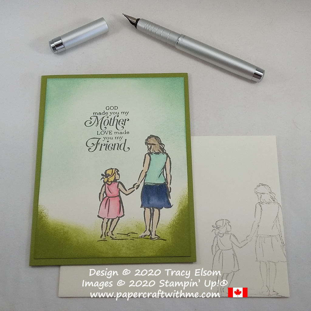 Mother and daughter card created using the Beautiful Moments and Strong & Beautiful Stamp Sets from Stampin' Up! #papercraftwithme