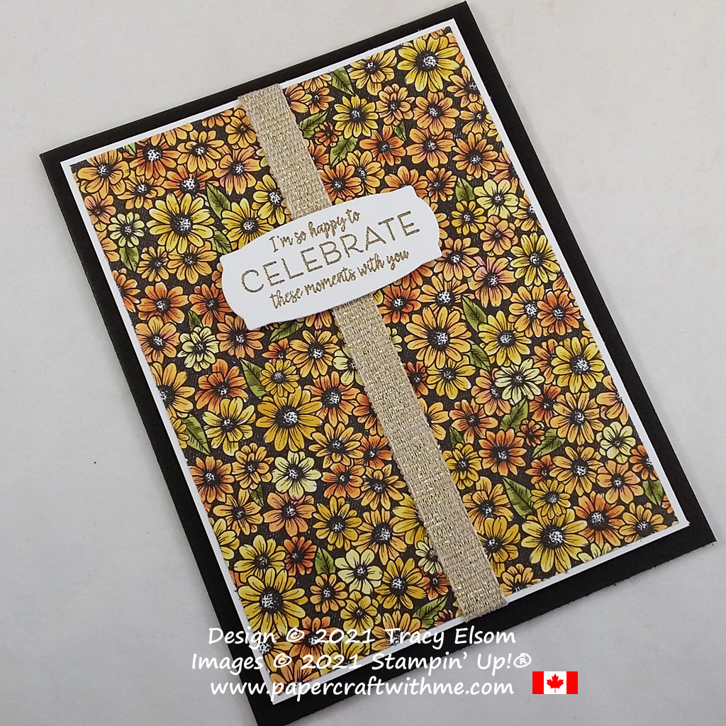 Celebrate with this colourful floral card created using True Love paper coloured with Stampin' Blends, and the Many Messages Stamp Set and Messages Die. All from Stampin' Up! #papercraftwithme