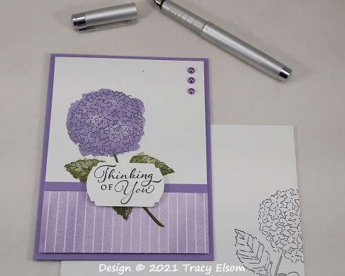 2157 Hydrangea Thinking Of You Card