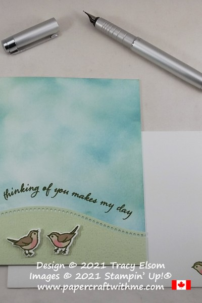 """Thinking of you makes my day"" card using the Quite Curvy Stamp Set, coordinating Curvy Dies and Subtle Embossing Folder from Stampin' Up! #papercraftwithme"