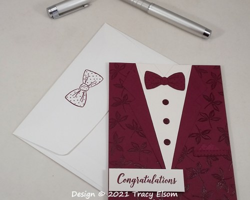 2183 Dressed For Dinner Congratulations Card