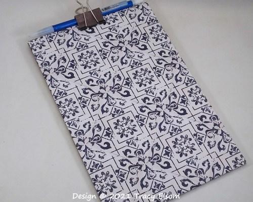 P156 Faux Tile Chipboard Clipboard