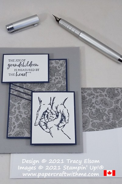 """""""The joy of grandchildren is measured by the heart"""" card created using the Treasures Of Life Stamp Set from Stampin' Up! #simplestamping #papercraftwithme"""