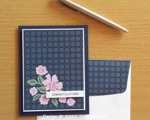 2191 Penned Flowers Congratulations Card