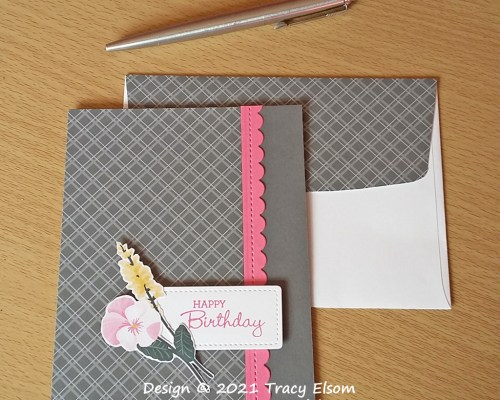 2192 Plaid & Pansy Birthday Card