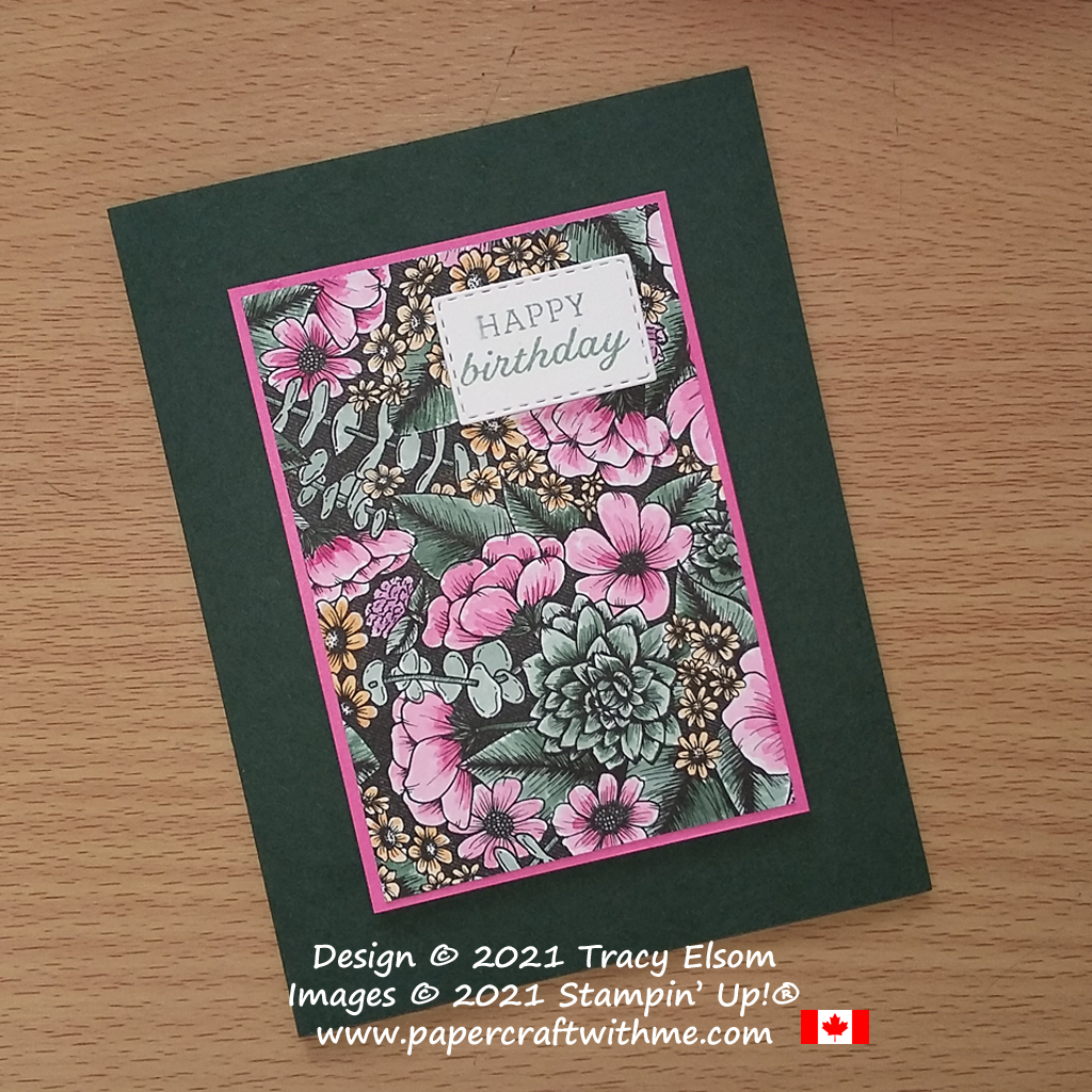 Birthday card created using True Love Designer Series Paper painted with Classic Stampin' Inks, all from Stampin' Up! #papercraftwithme