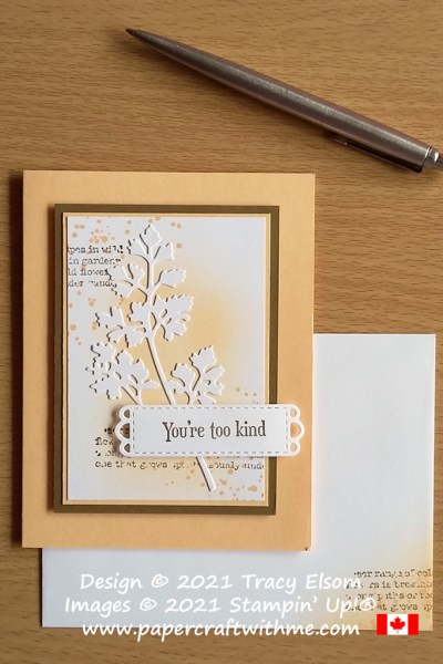 """""""You're too kind"""" collage-style card created using the Quiet Meadow Stamp Set and Meadow Dies from Stampin' Up! #papercraftwithme"""