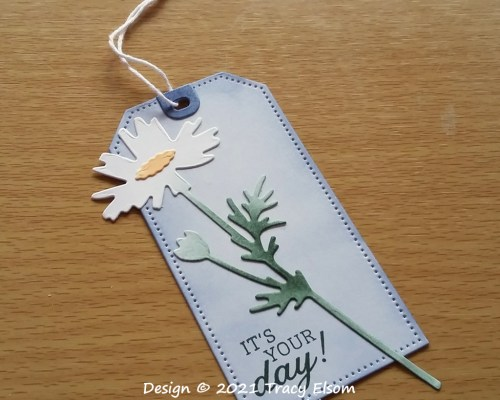 Daisy It's Your Day Gift Tag