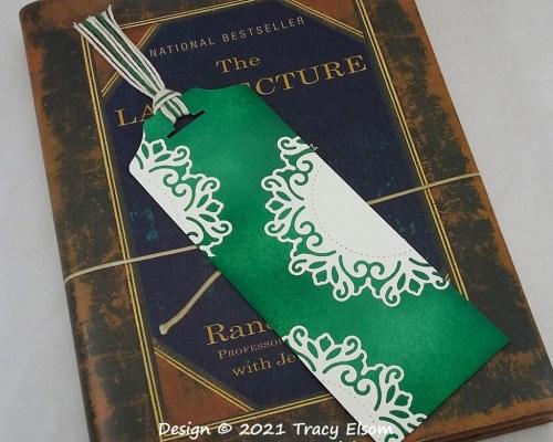 BM354 Doily Decorated Bookmark