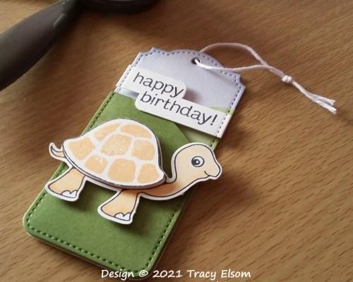 Turtle Layered Birthday Gift Tag