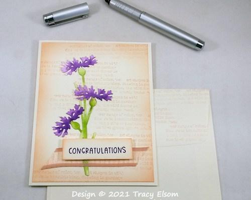 2236 Cornflower Congratulations Card
