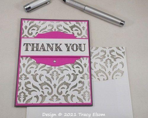 2249 Stencilled Thank You Card