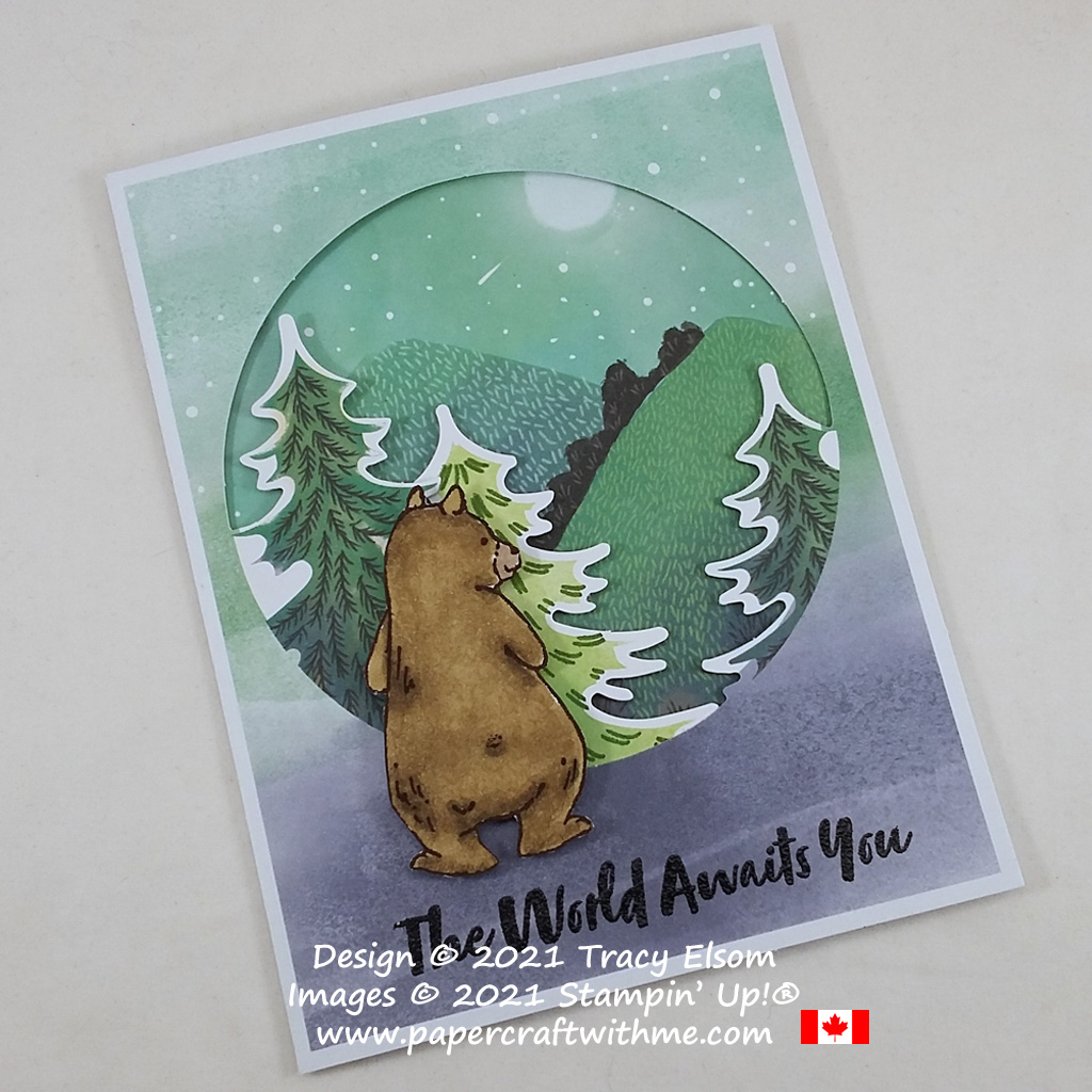 """""""The world awaits you."""" Alternate card design for the July 2021 Paper Pumpkin kit """"The Adventure Awaits"""", created using the Count On Me Stamp Set from Stampin' Up! #papercraftwithme"""