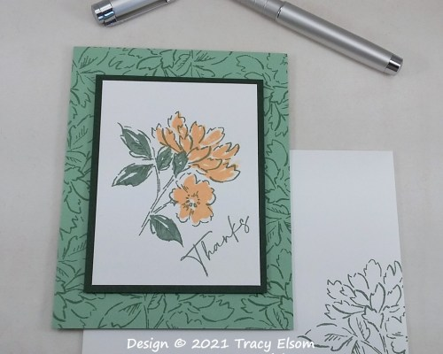 2210 Simple Stamped Thanks Card