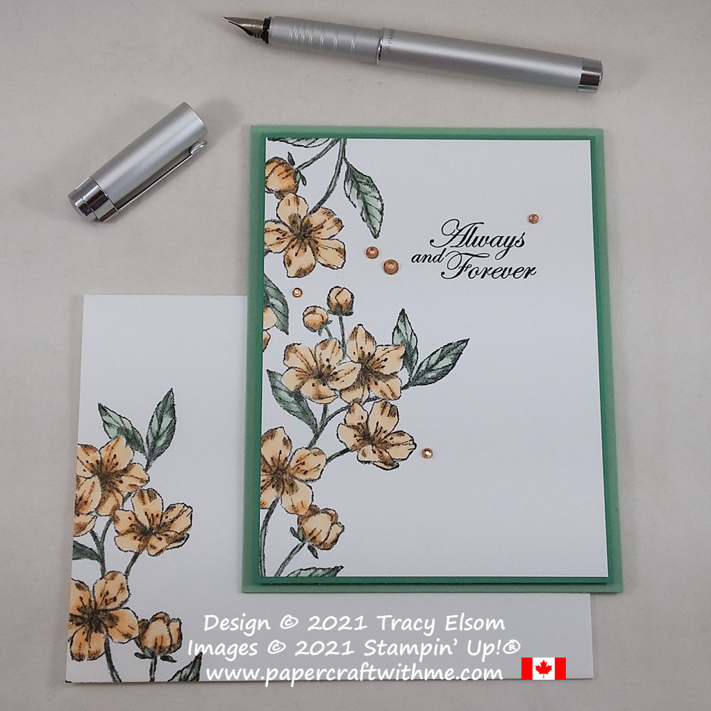 """""""Always and forever"""" wedding card created using the Forever Blossoms Stamp Set from Stampin' Up! #papercraftwithme"""
