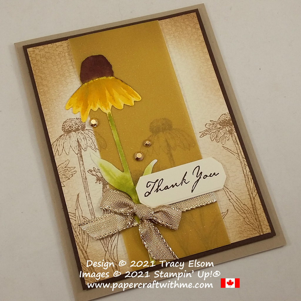 Autumn thank you card created using the Nature's Harvest Stamp Set and coordinating Harvest Dies from Stampin' Up! #papercraftwithme