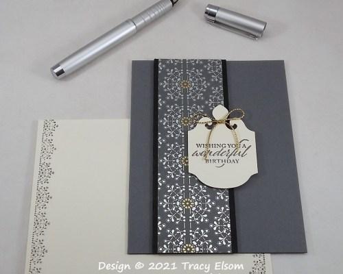 2230 Elegant Wonderful Birthday Card