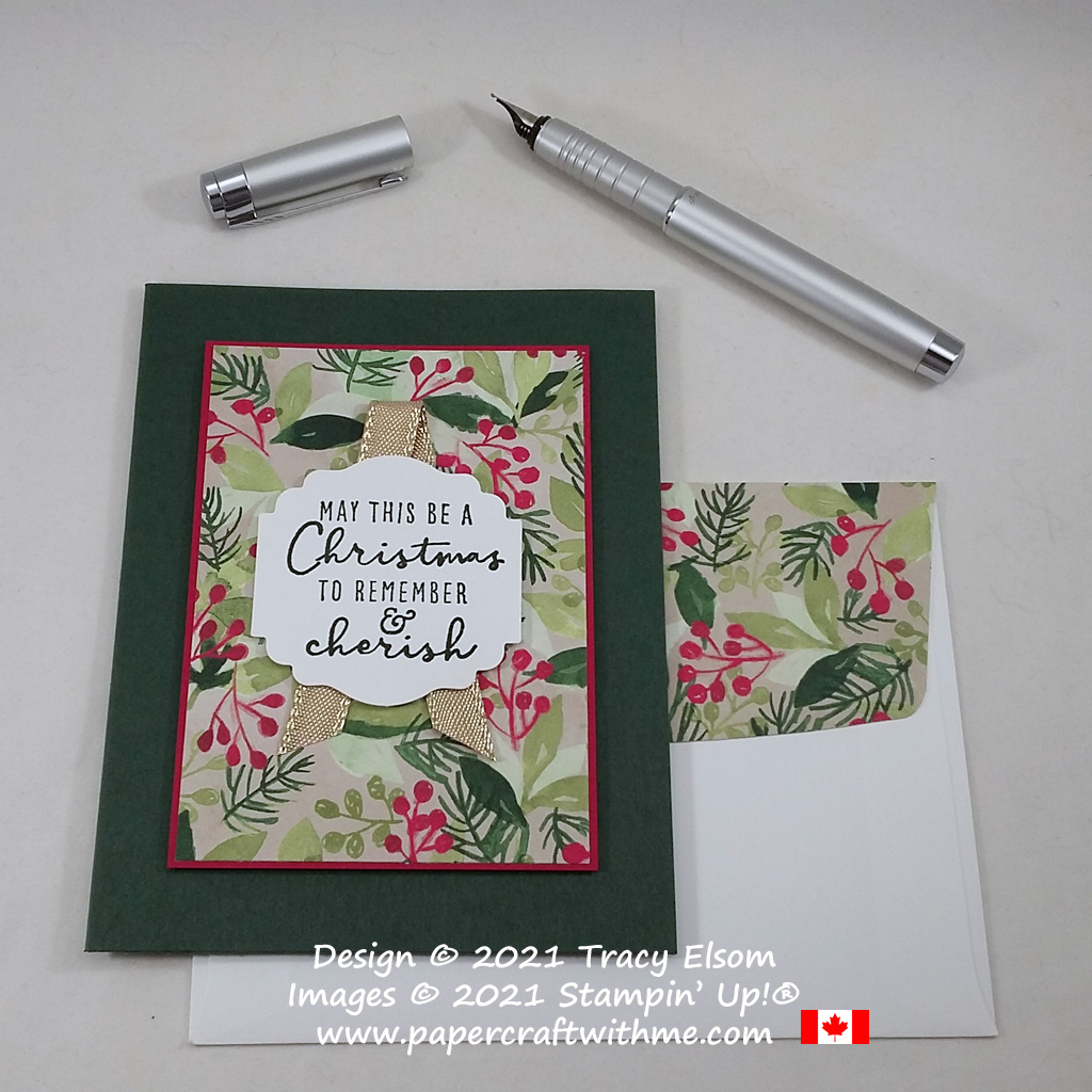 Simple Christmas card created using the Christmas To Remember Stamp Set from Stampin' Up! #simplestamping #papercraftwithme