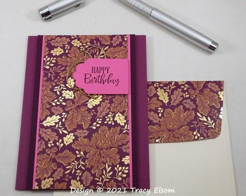 2282 Golden Autumn Birthday Card