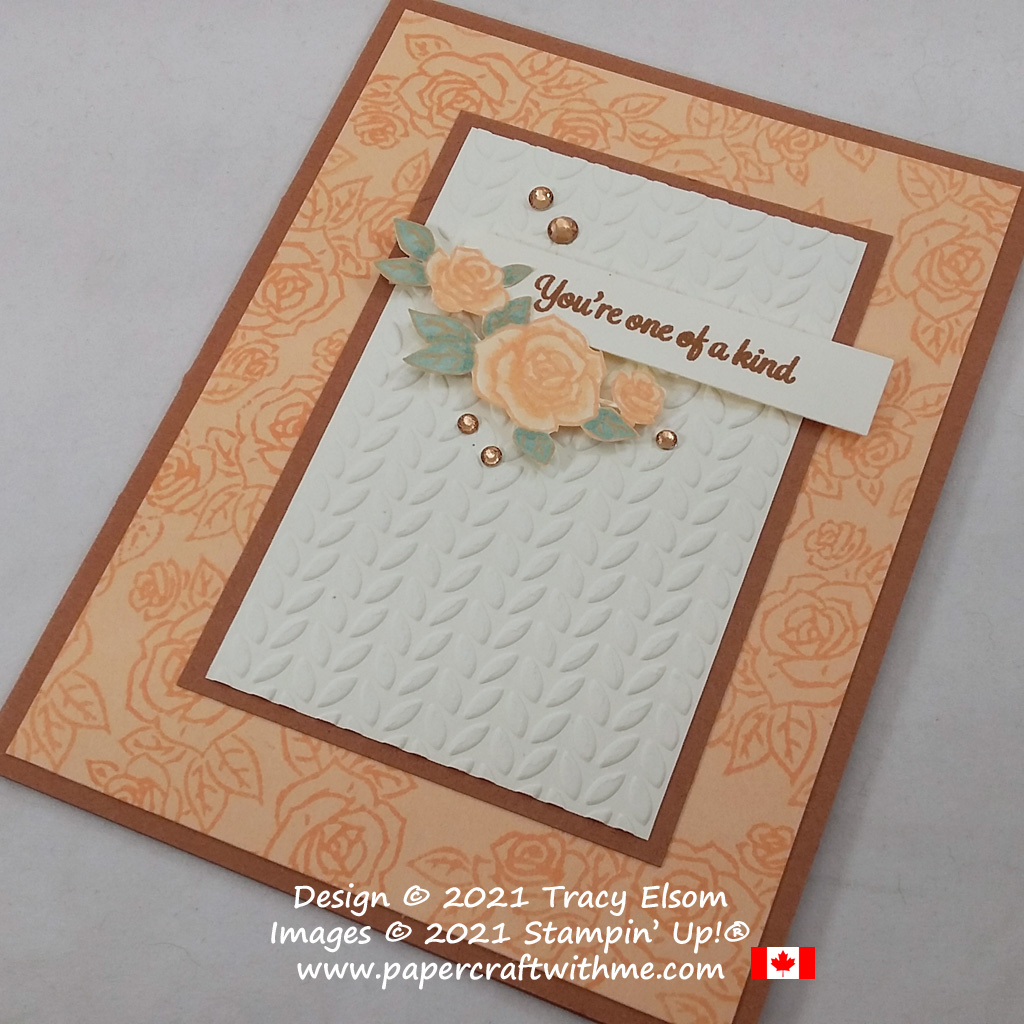 """""""You're one of a kind"""" card with roses image created using the Prince & Princess (Host) Stamp Set from Stampin' Up! #papercraftwithme"""