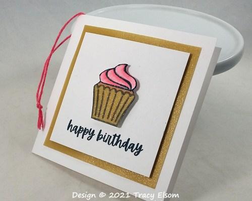 Birthday Cupcake Gift Tag