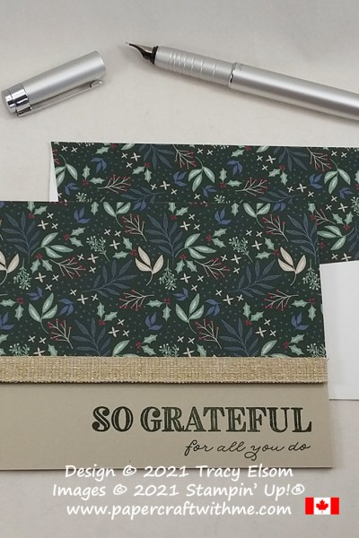 """""""So grateful for all you do"""" card created using the Ornate Thanks Stamp Set from Stampin' Up! #simplestamping #papercraftwithme"""