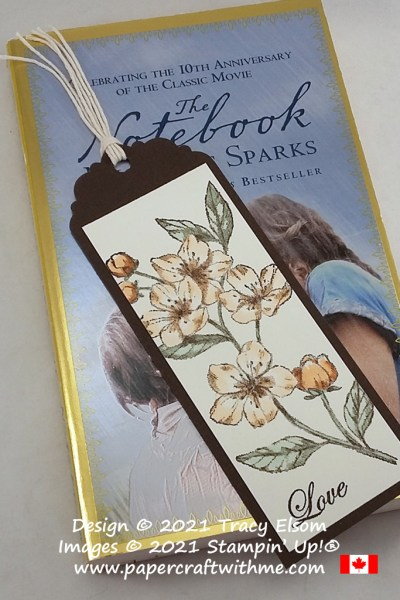 """Elegant """"love"""" bookmark created using the Forever Blossoms Stamp Set from Stampin' Up! #papercraftwithme"""