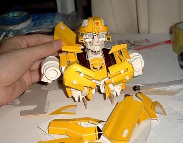 Papercraft Bumblebee Transformer