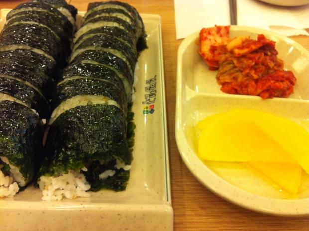 Gimbap and Kimchi