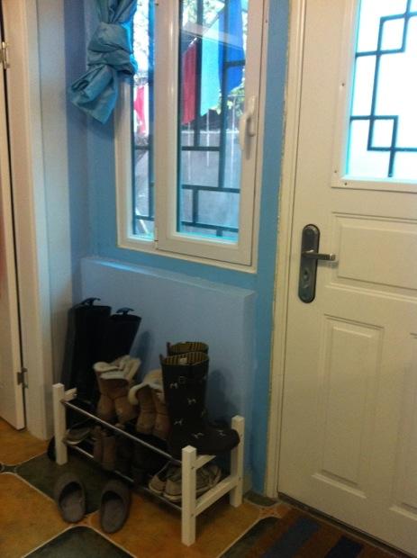 Boot rack and front door..