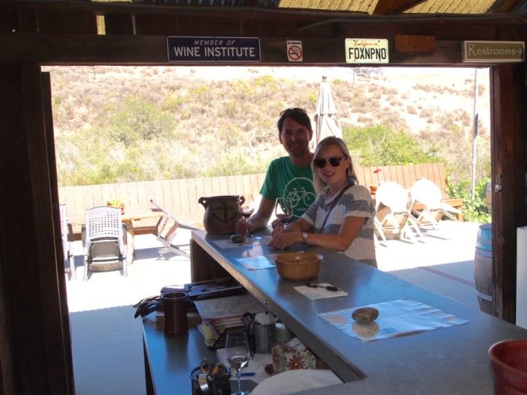 Wine tasting Foxons Santa Barbara Sideways
